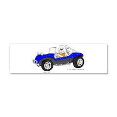 DUNE BUGGY CAT Car Magnet 10 x 3