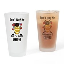 Coffee Bug Drinking Glass