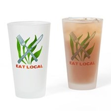 Eat Local Drinking Glass