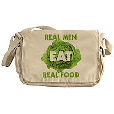 Real Men Eat Real Food Messenger Bag