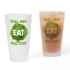 Real Men Eat Real Food Drinking Glass