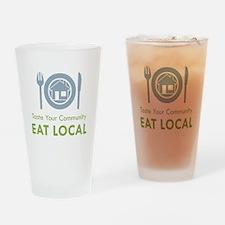 Taste Local Drinking Glass