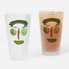 Unique Bean face Drinking Glass