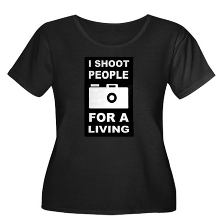 I Shoot People For A Living Women's Plus Size Scoo