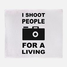 I Shoot People For A Living Throw Blanket