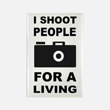 I Shoot People For A Living Rectangle Magnet