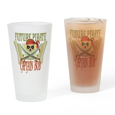 Future Pirates Drinking Glass