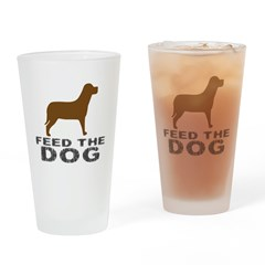 Feed theDog Drinking Glass