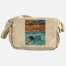 Moose the Chocolate Lab Messenger Bag