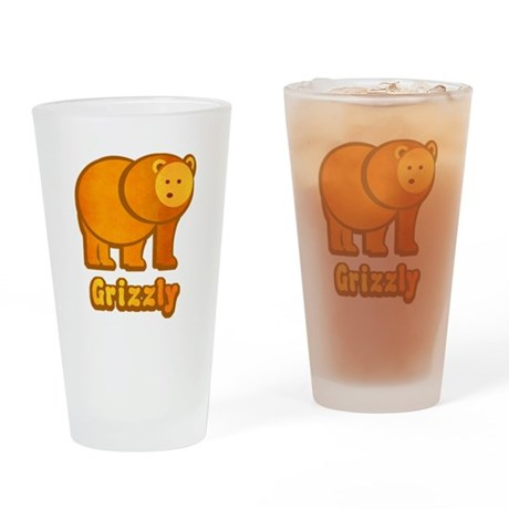 Grizzly Bear Drinking Glass