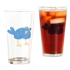 One Cute Bird Drinking Glass