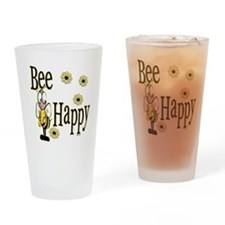 Bee Happy Drinking Glass