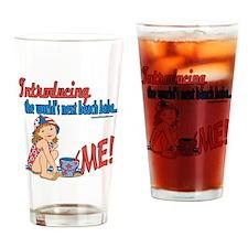 Future Beach Babe Drinking Glass