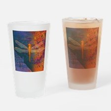 Flaming Dragonfly Drinking Glass