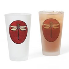 Red Moon Dragonfly Drinking Glass