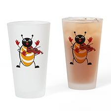 Viola Bug Drinking Glass