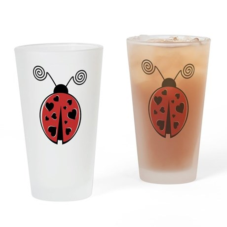 Lovebug Drinking Glass