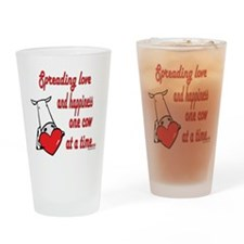 Spreading Love Cows Drinking Glass