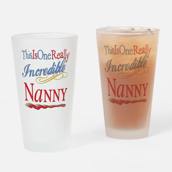 Incredible Nanny Drinking Glass