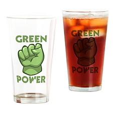 Green Power Drinking Glass