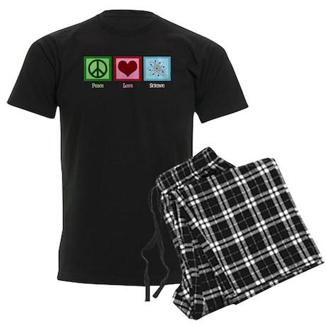 Peace Love Science Men's Dark Pajamas