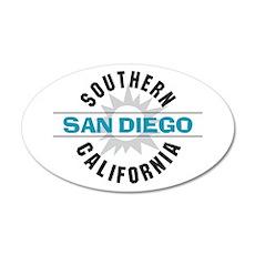 San Diego California 22x14 Oval Wall Peel