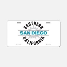San Diego California Aluminum License Plate