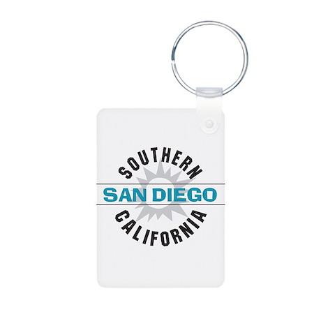 San Diego California Aluminum Photo Keychain