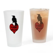 Nevermore Raven Drinking Glass