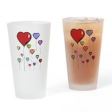 Balloon Hearts Drinking Glass