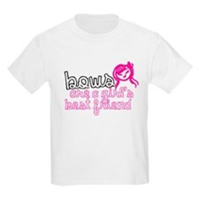 Bows Are A Girl's Best Friend Kids Tee