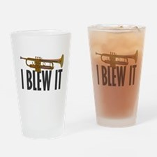 I Blew It Trumpet Drinking Glass