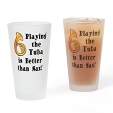 Playing the Tuba Drinking Glass