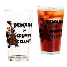 Grumpy Cellist Drinking Glass