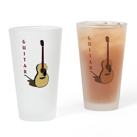 Guitar Drinking Glass