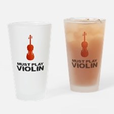 Must Play Violin Drinking Glass