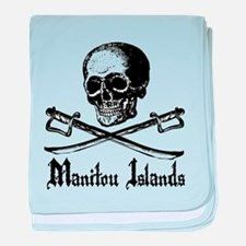 Manitou Islands Pirate baby blanket