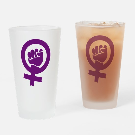 Feminist Power Drinking Glass