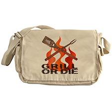 Grill or Die Messenger Bag