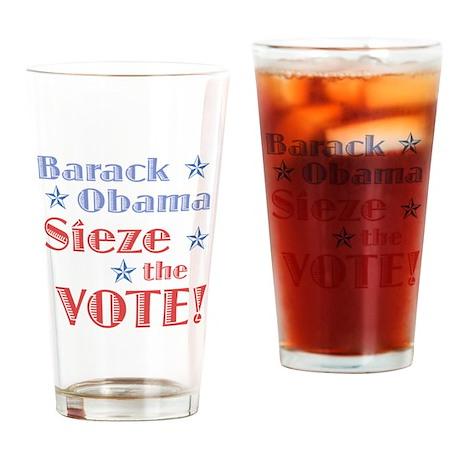 Obama Sieze the Vote Drinking Glass