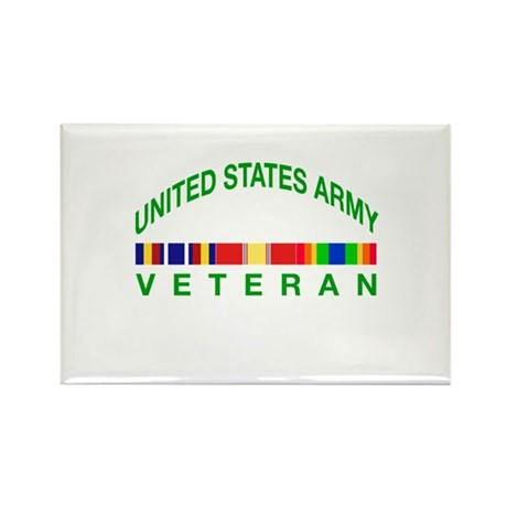 US Army Veteran Rectangle Magnet