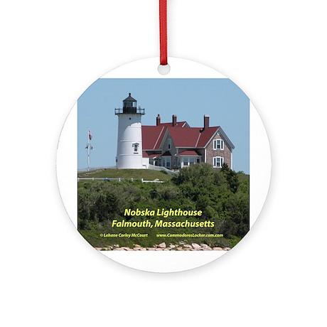 Nobska Lighthouse Ornament (Round)