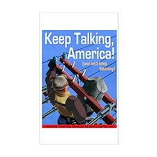 Keep Talking America Rectangle Decal