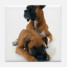 Boxers 2 Tile Coaster