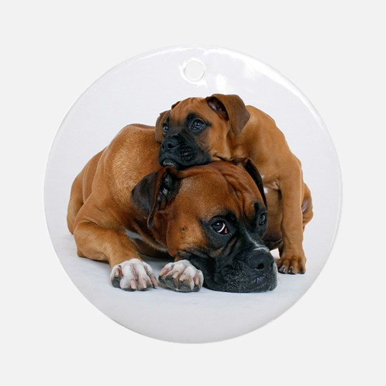 Boxer 3 Ornament (Round)