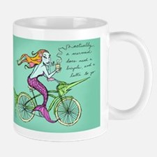 Mermaid on a Bicycle Mug