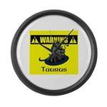 Warning: Taurus Large Wall Clock