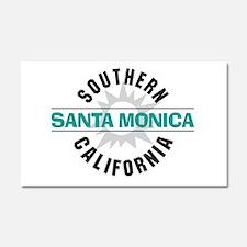 Santa Monica California Car Magnet 20 x 12