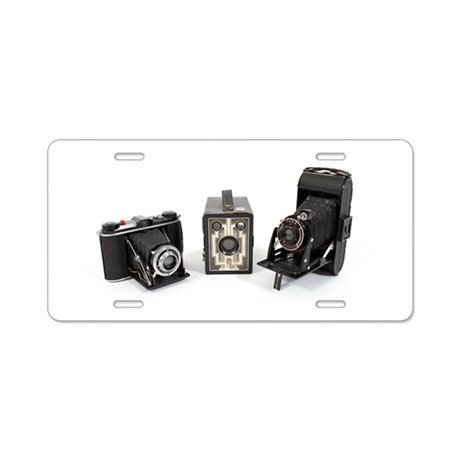 Retro Cameras Aluminum License Plate