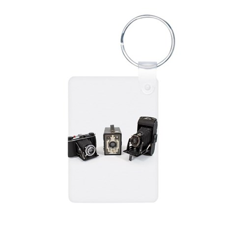 Retro Cameras Aluminum Photo Keychain